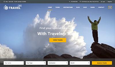 como crear una página web de viajes