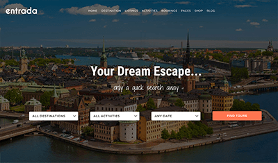 how to make a travel agency website