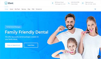 exemple de site web pour les dentistes