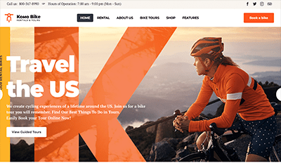 bicycle web page design