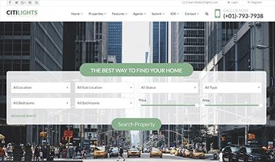 conception de site web immobilier
