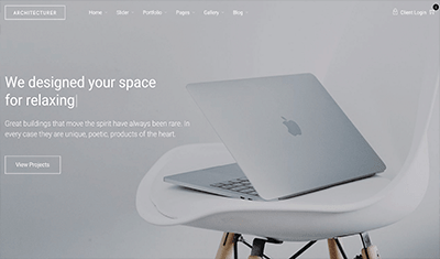 diseño web ejemplo arquitectura