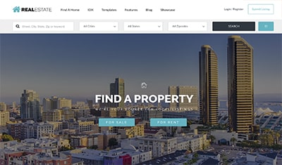 real estate web design examples