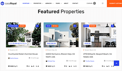 real estate website examples