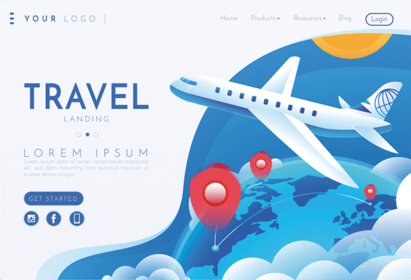 examples of travel agency websites