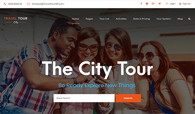 ejemplos páginas web tours