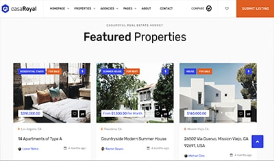 web examples for real estate