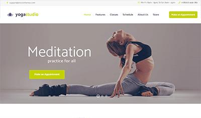 ejemplos webs de yoga