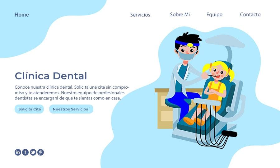 página web para dentistas