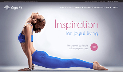 web pages examples yoga