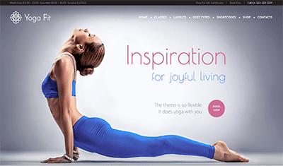 páginas web ejemplos yoga