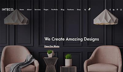 páginas web de ejemplo interiorismo