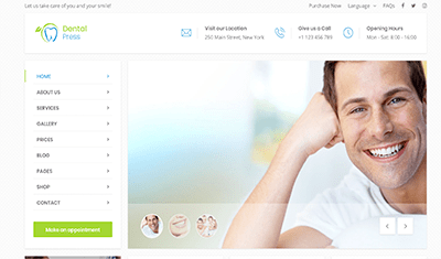 sites web pour les cliniques dentaires exemple 5