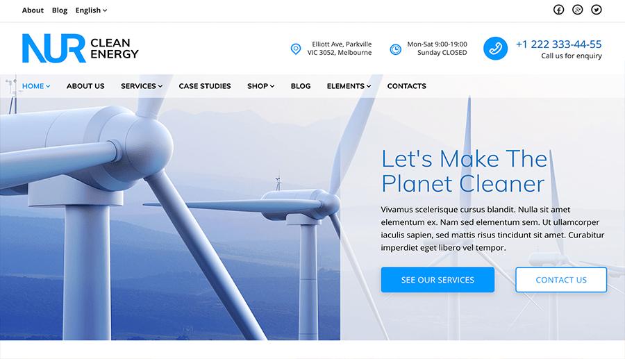 Desarrollo web empresas energía limpia