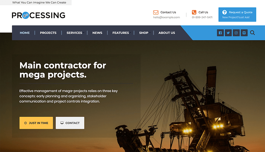 Design web pages for factories
