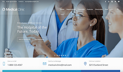 web development health sector