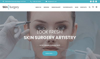 aesthetic clinical web design