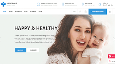 medical clinics web design