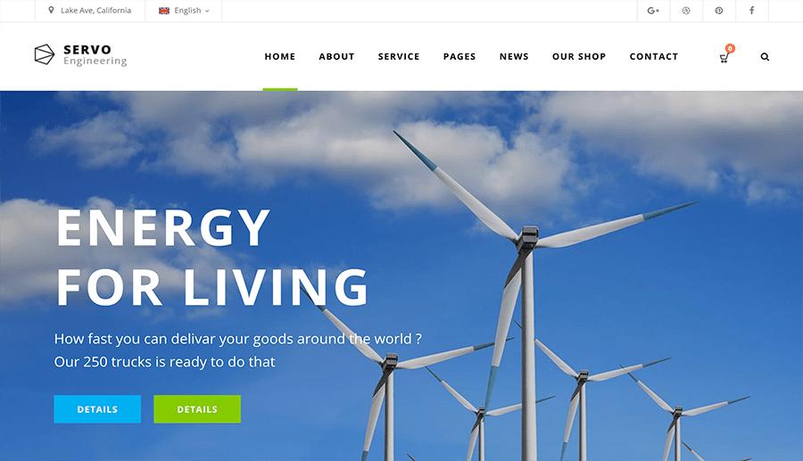 diseño web empresa energía renovable