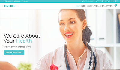 web design for medical consultations