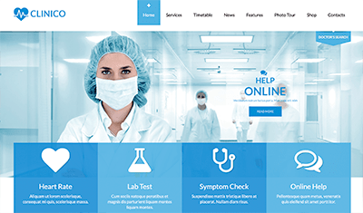 web design for hospitals