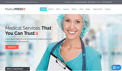 web design health professionals