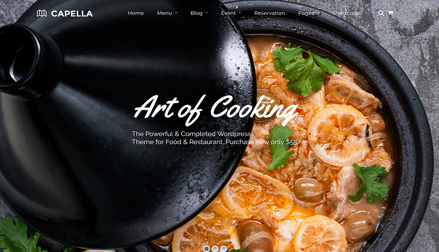 web design restaurants