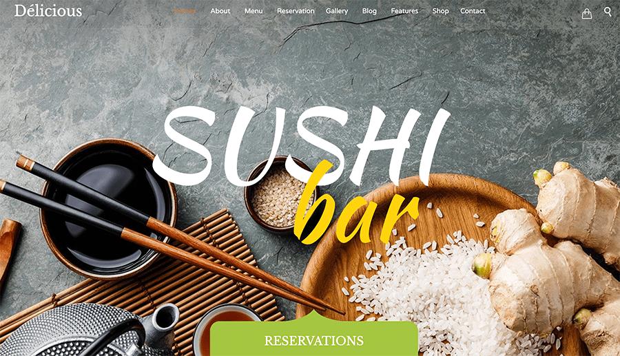 sushi web design