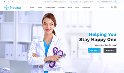 examples medical websites