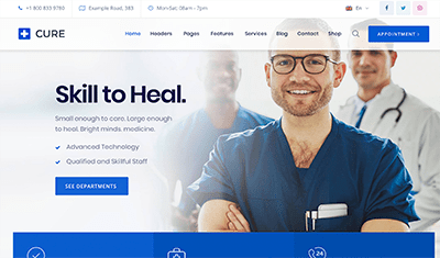 websites for medical clinics