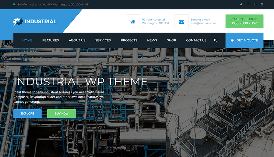web pages for industrial companies