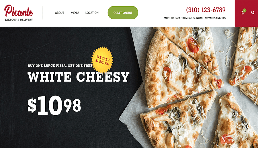 sites web pour les pizzerias