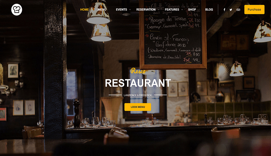 sites web de restaurants
