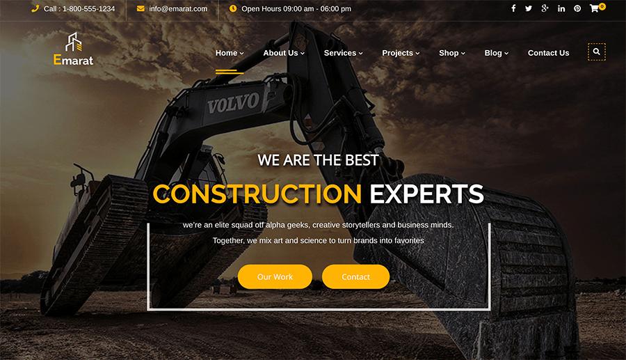 creación páginas web constructoras