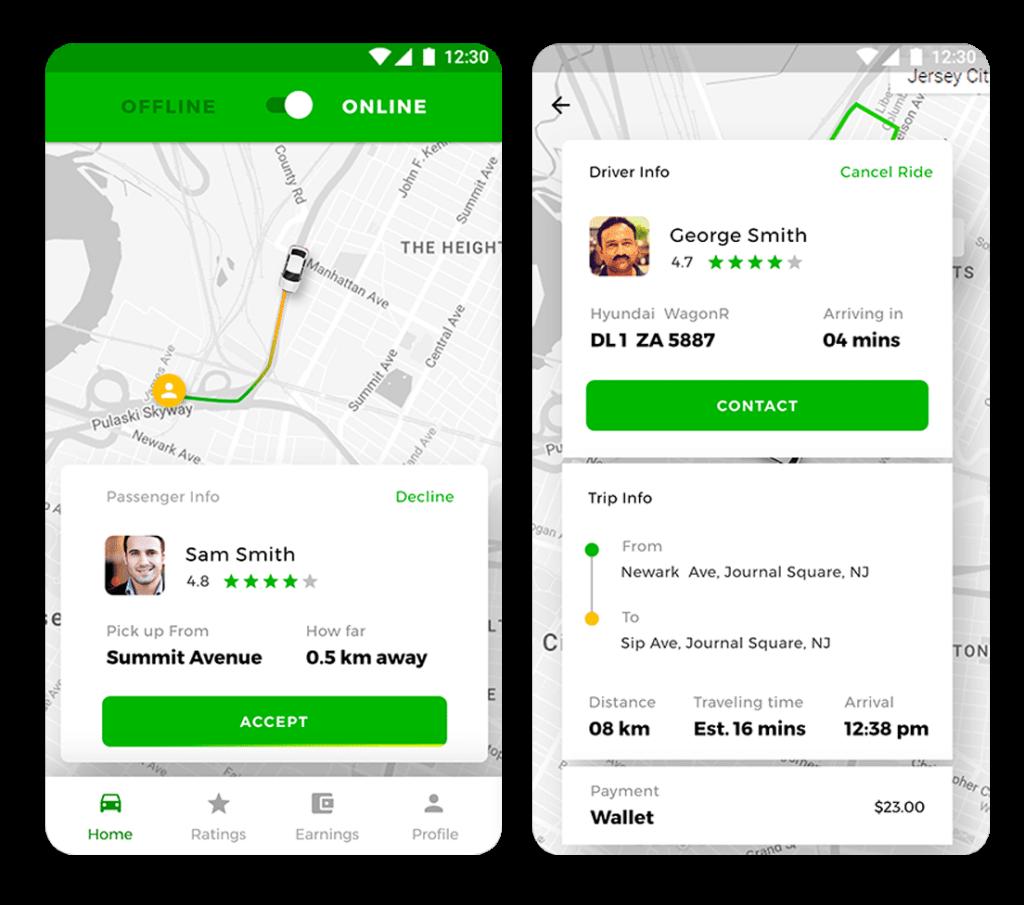 desarrollo app tipo Uber