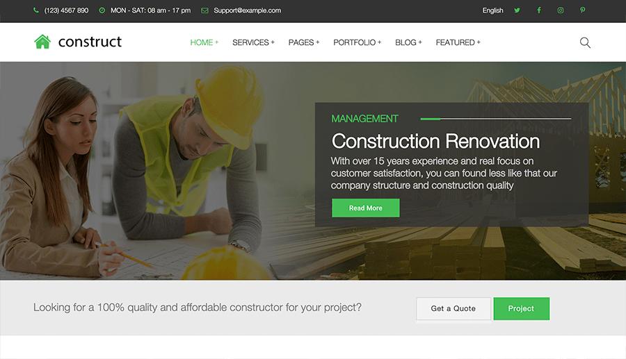 diseño páginas web construcción