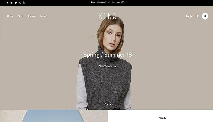 online fashion store design