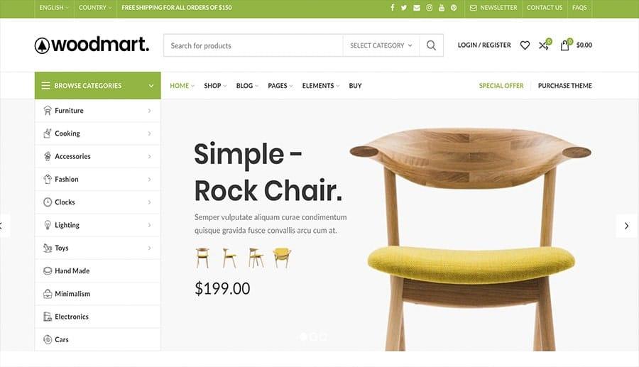 concevoir des meubles de magasin en ligne