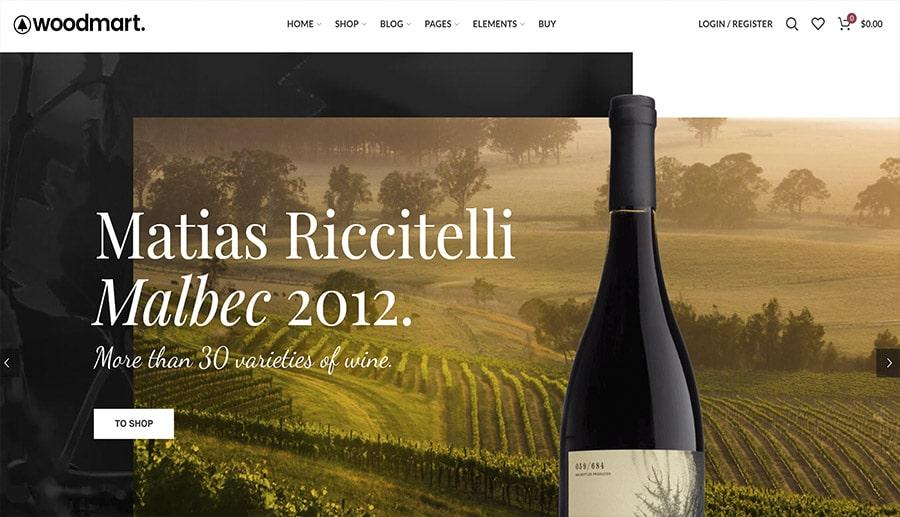 wine shop online design