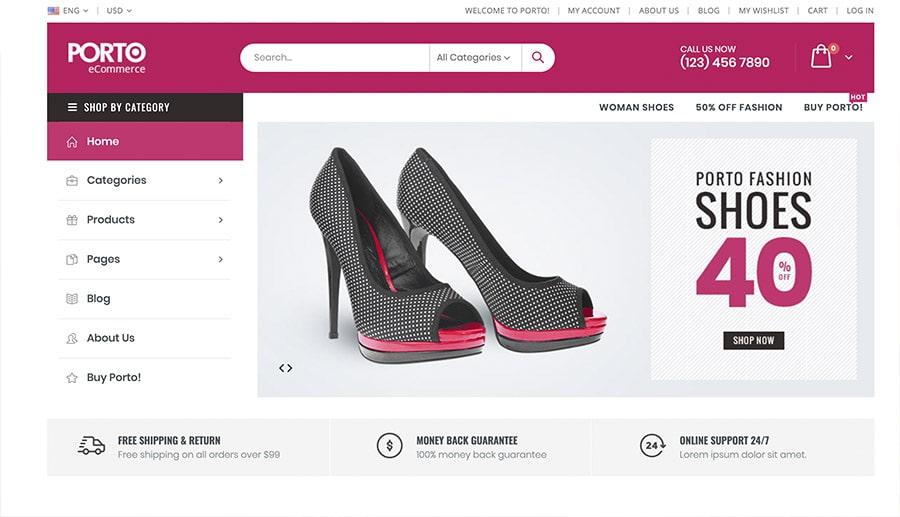 concevoir des chaussures pour les magasins en ligne