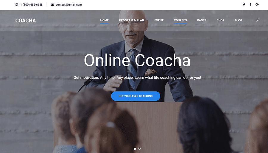 web design coach organizacional