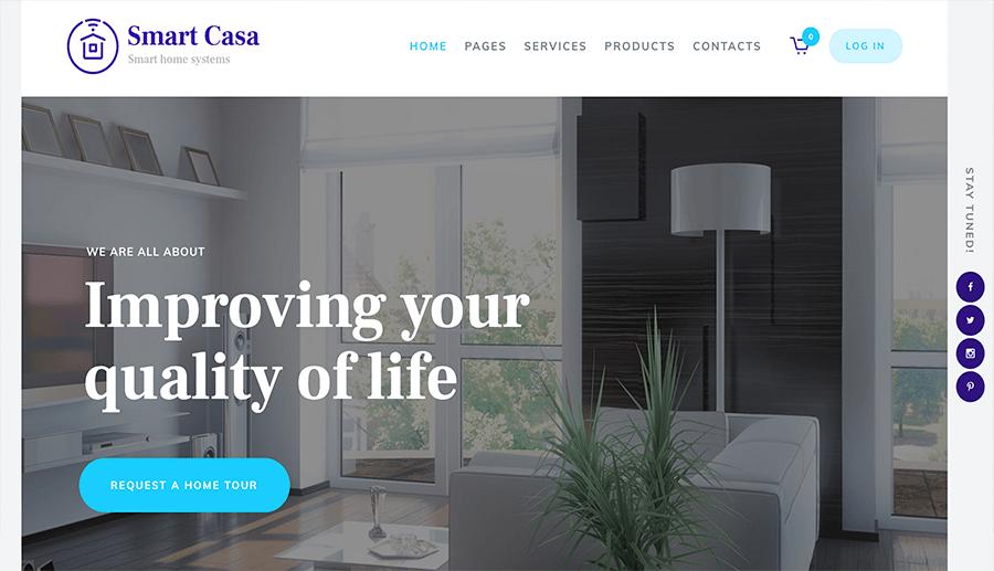 diseño web conectar casas inteligentes