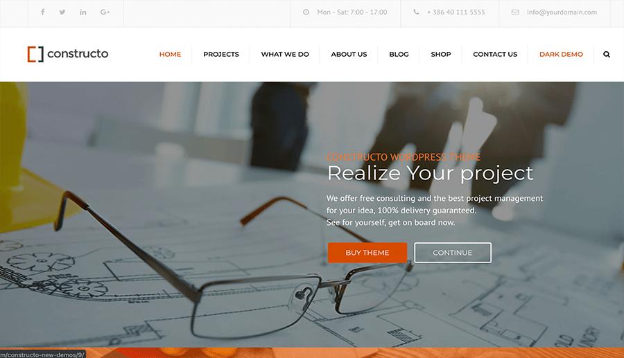 diseño web empresas de obras