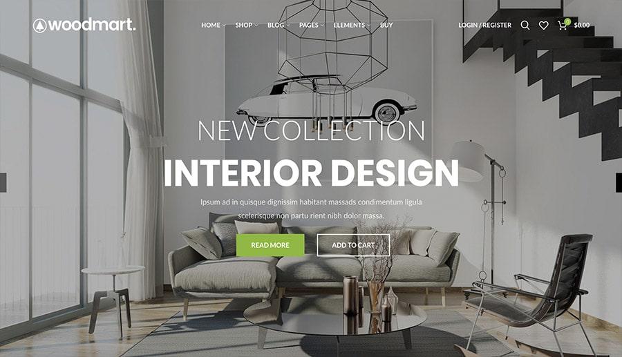 design d'intérieur du commerce électronique
