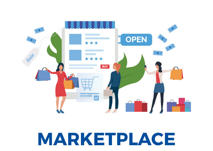 página web marketplace