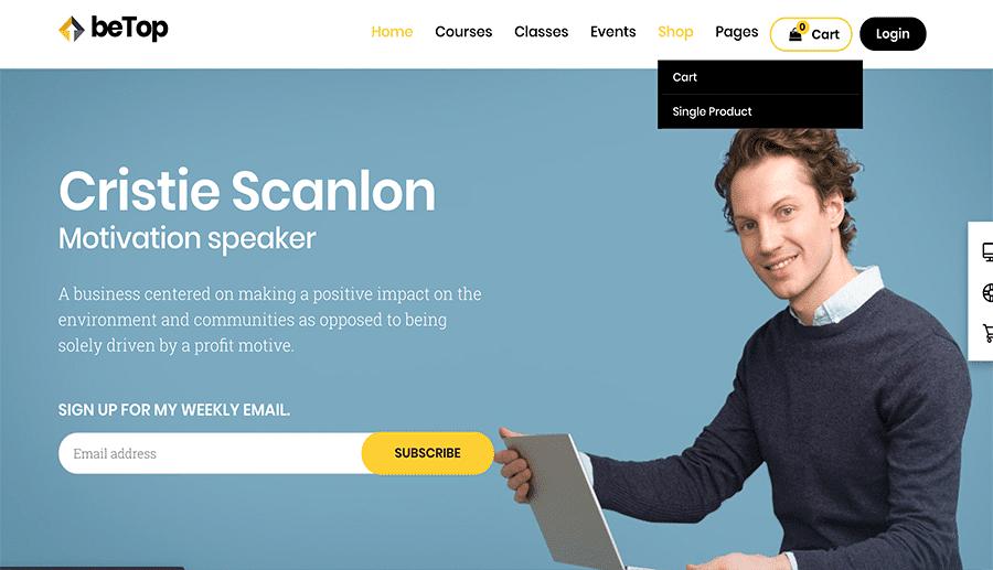 pages web de motivation