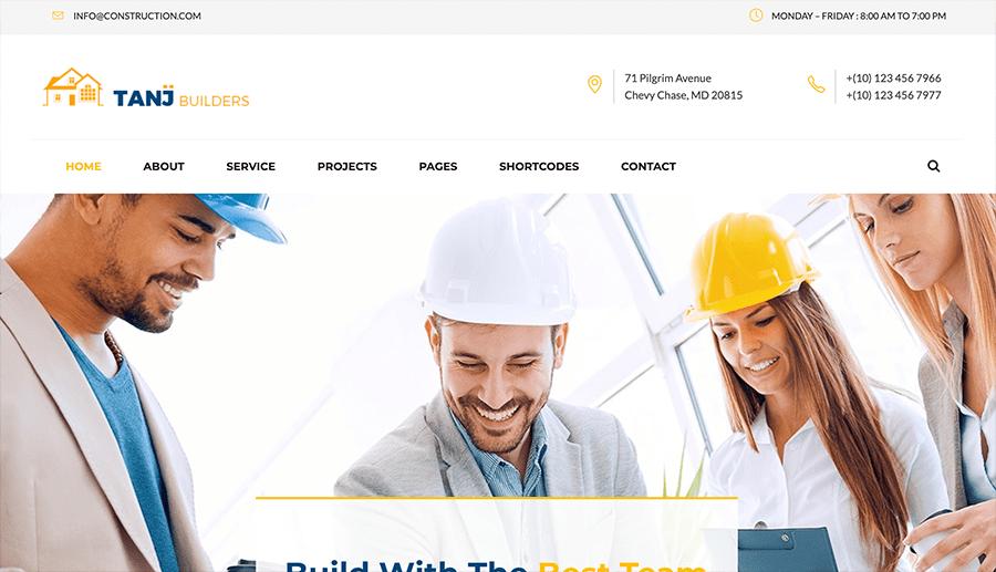 páginas web para empresas de construcción