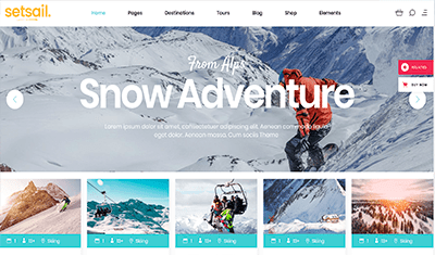 Travel web design examples