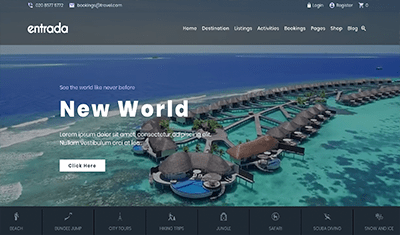 how to create a travel website