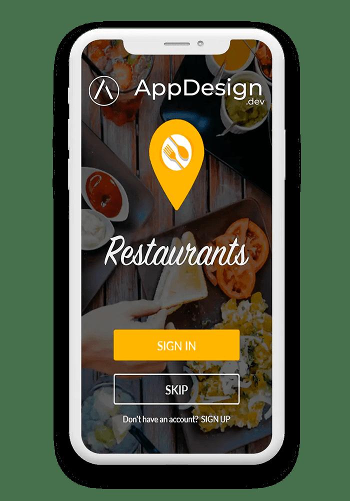 développement d'une application pour les restaurants